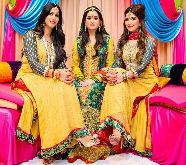 Beautiful Mehndi Dresses in Pakistan 2015
