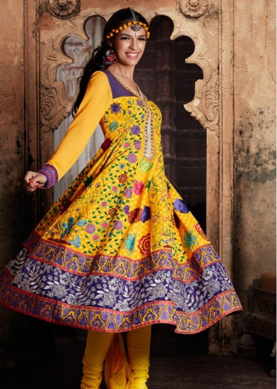b92e53a64c92 Indian Pakistani Latest Bridal Mehndi Dresses 2015 – AwazPost.com