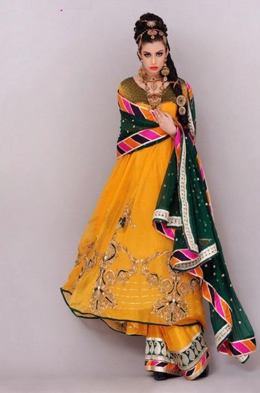 Indian Bridal Mehndi Dresses Collection 2015 Awazpost Com
