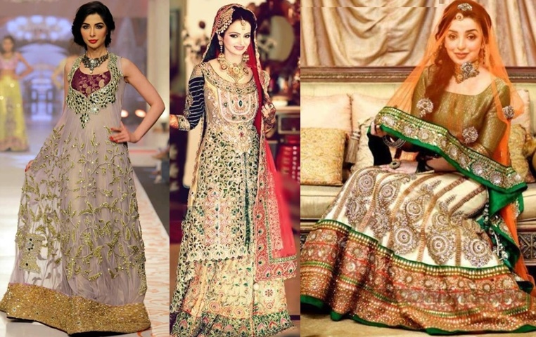 dff36194266 Latest Pakistani Bridal Walima Dresses 2019